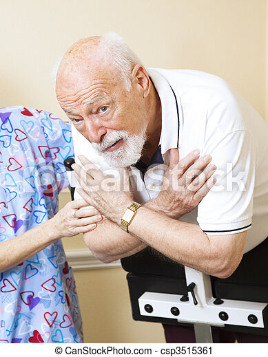 senior, bekymrat, terapi, fysisk - csp3515361