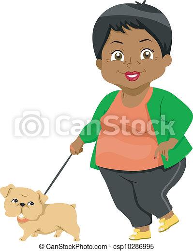 senior, boeiend, achtervolg wandeling - csp10286995