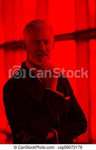 senior business man portrait - csp56072179