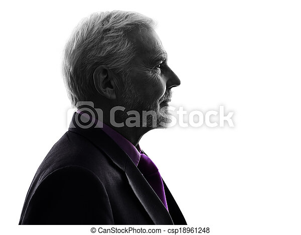senior business man silhouette - csp18961248