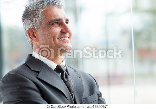senior businessman close up portrait - csp16509571