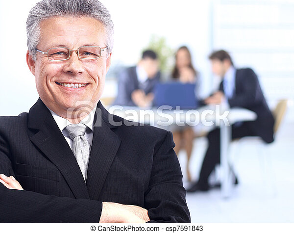 senior businessman in office  - csp7591843