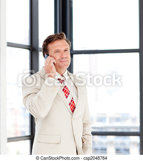Senior businessman on phone - csp2048784