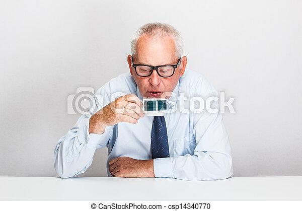 Senior businessman  - csp14340770