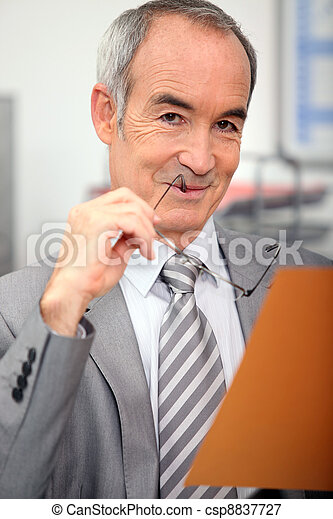 Senior businessman - csp8837727