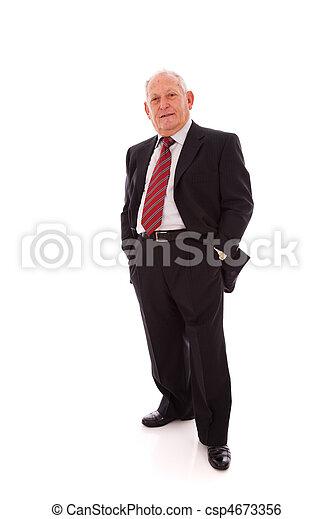 Senior businessman - csp4673356