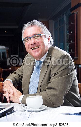 senior businessman - csp2152895
