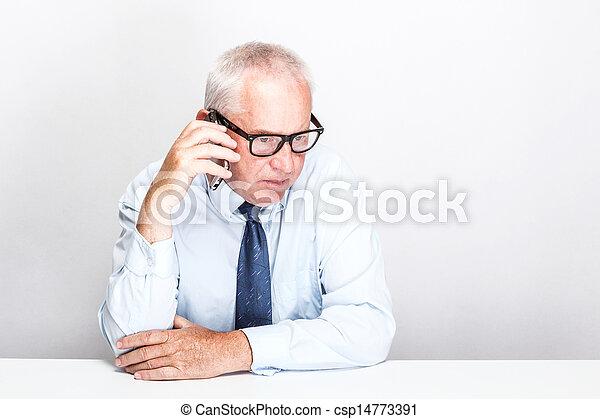 Senior businessman - csp14773391