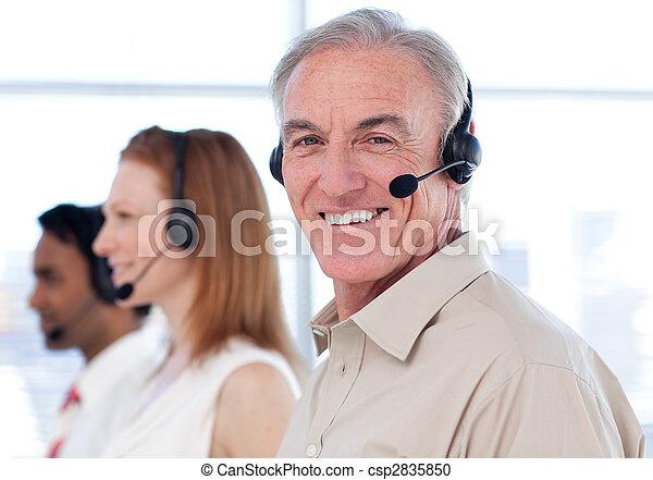 Senior businessman  - csp2835850