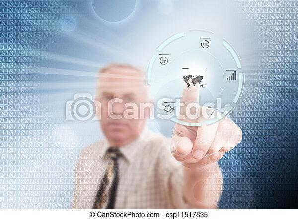 Senior businessman - csp11517835