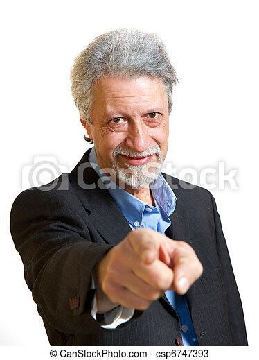 senior businessman  - csp6747393