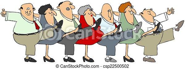 Senior citizen can-can - csp22500502