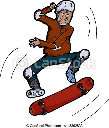 senior citizen skateboarder latino senior citizen does vectors rh canstockphoto com senior citizen clip art free download senior citizen clip art birthday images