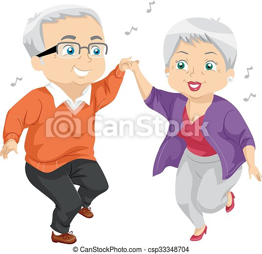 Senior Couple Dance - csp33348704