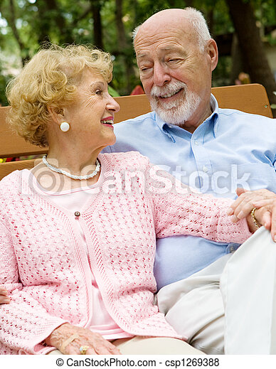 Senior Couple Deeply in Love - csp1269388