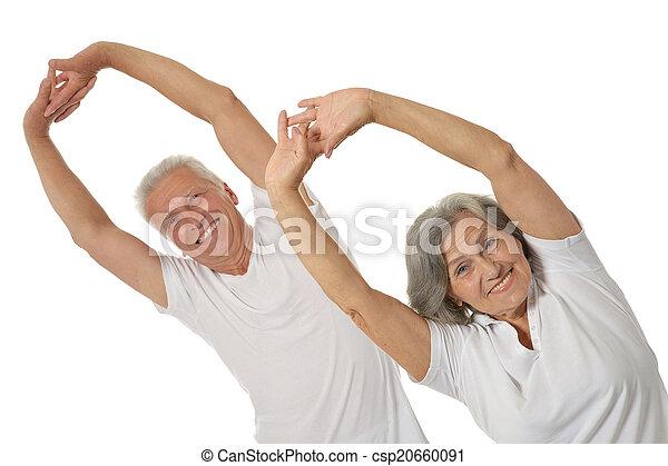 Senior Couple Exercising - csp20660091