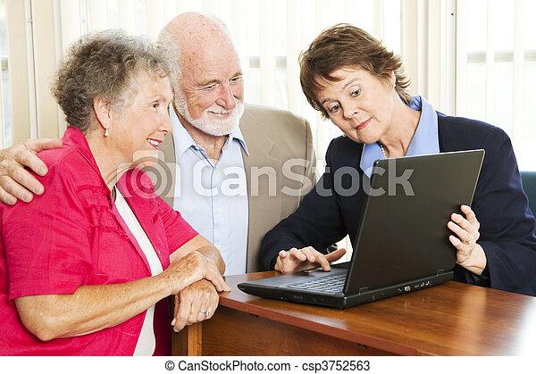 Senior Couple - Financial Advice - csp3752563