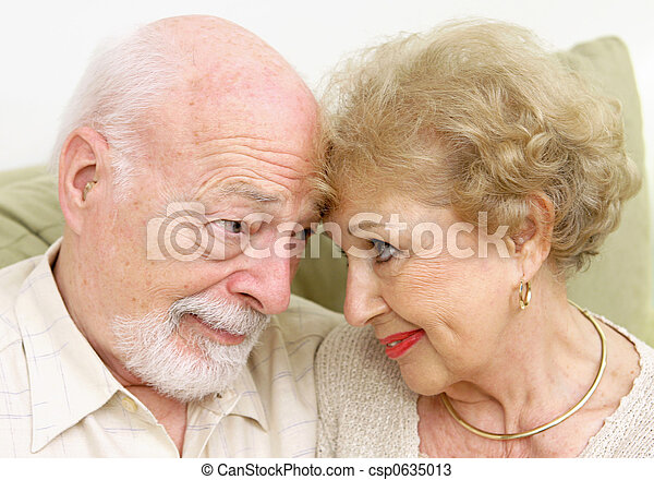 Senior Couple Flirting - csp0635013