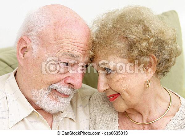 Senior Couple Flirting - csp0635013