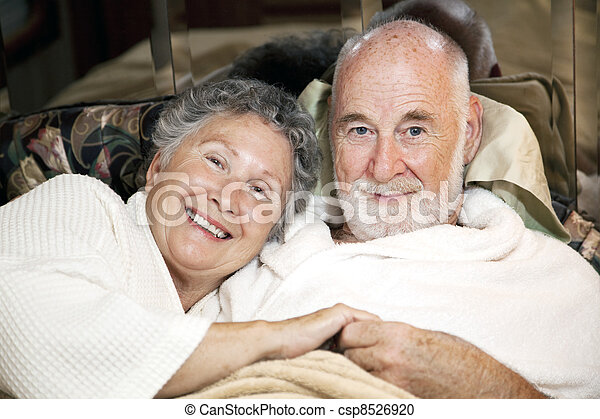 Senior Couple in Bed - csp8526920