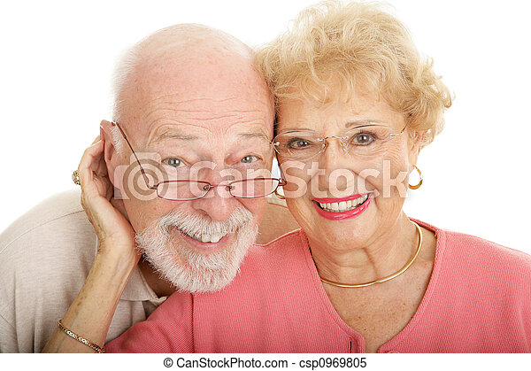 Senior Couple in Glasses - csp0969805