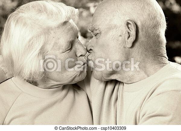 Senior couple in love - csp10403309