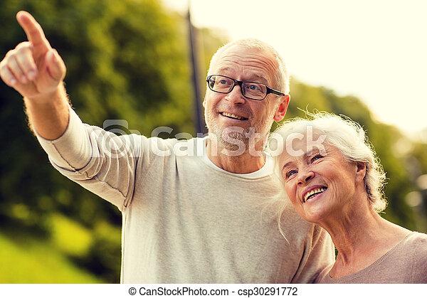 senior couple in park - csp30291772