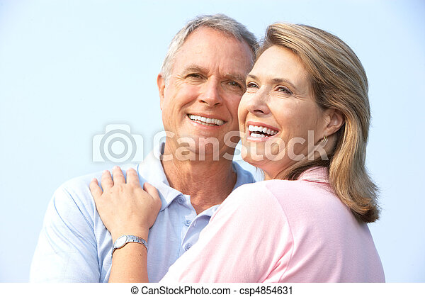 senior couple in park - csp4854631