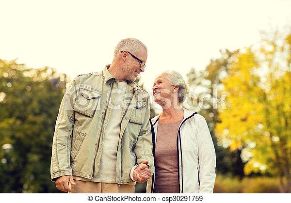 senior couple in park - csp30291759