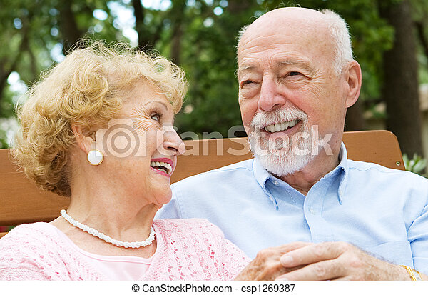 Senior Couple - Love and Laughter - csp1269387
