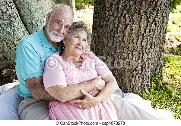 Senior Couple - Nostalgia - csp4073278