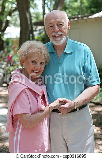 Senior Couple Outdoors - csp0316895
