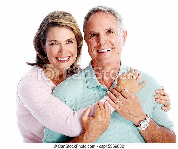 Senior couple portrait. - csp15369832