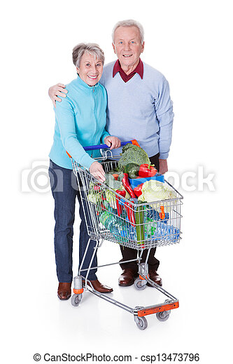 Senior Couple Shopping Vegetables - csp13473796
