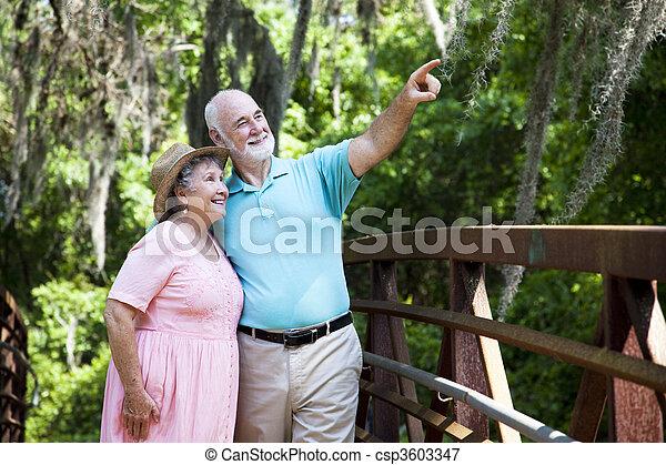 Senior Couple Sightseeing - csp3603347