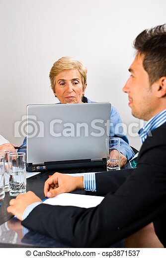 Senior executive woman at meeting - csp3871537