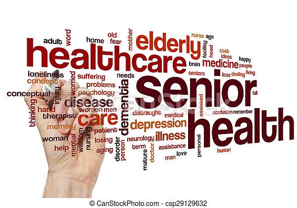 Senior health word cloud - csp29129632