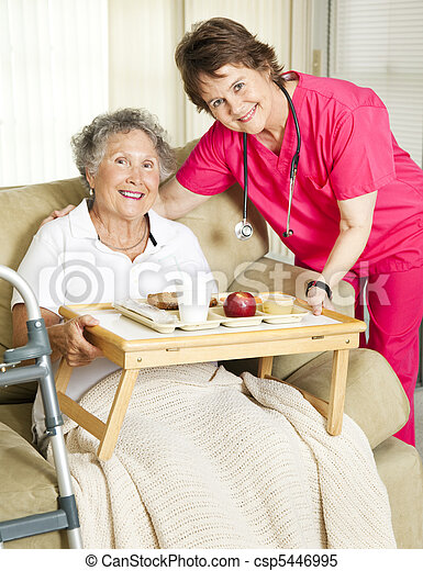Senior Home Meal Delivery - csp5446995