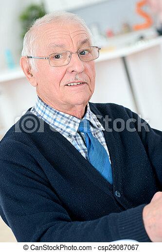 Senior man at home - csp29087067