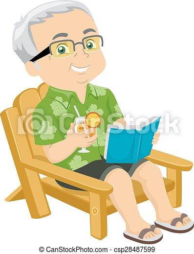 senior man beach chair illustration of a senior citizen sitting on rh canstockphoto com senior citizen clipart black and white senior citizen clipart images