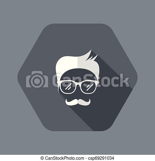 Senior man face with glasses - csp69291034