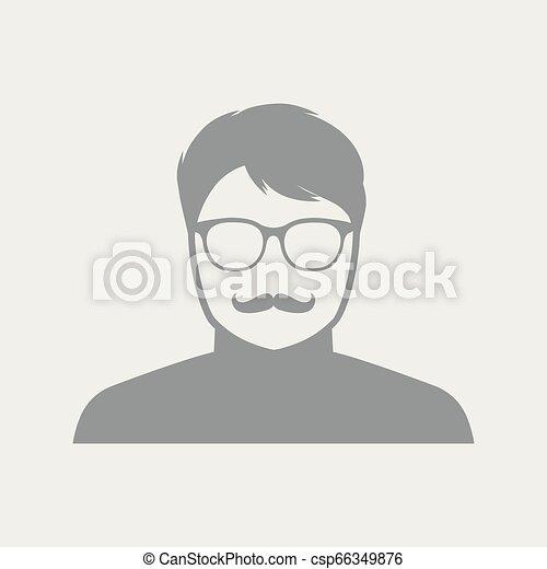 Senior man face with glasses - csp66349876
