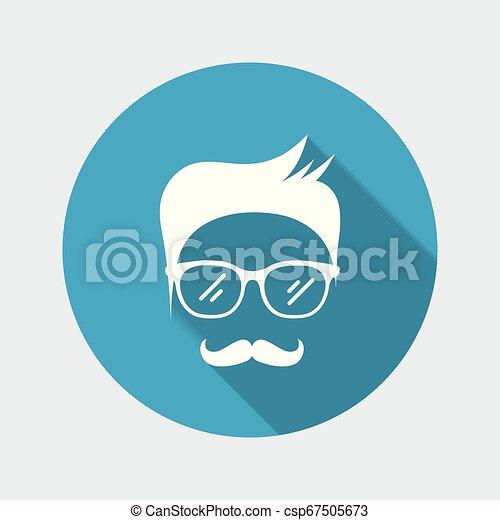 Senior man face with glasses - csp67505673