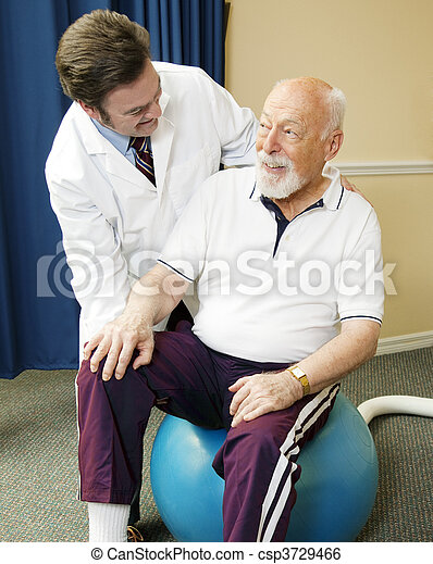 Senior Man Getting Physical Therapy - csp3729466