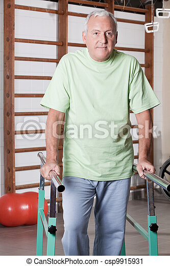 Senior Man having ambulatory therapy - csp9915931