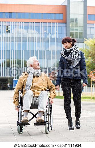 Senior man in a wheelchair - csp31111934
