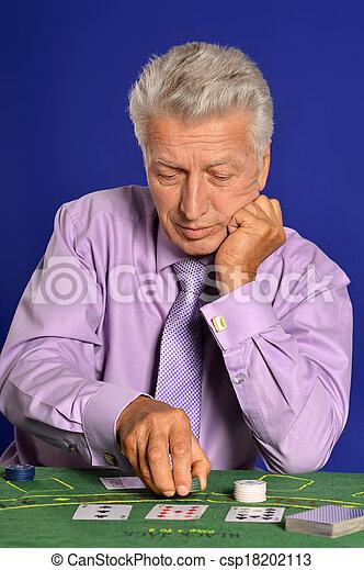 Senior man in casino - csp18202113