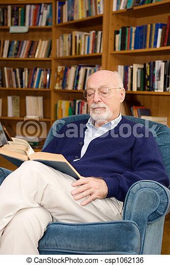 Senior Man Reading - csp1062136