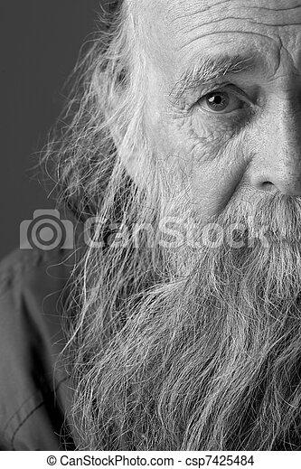 Senior Man With Long Beard - csp7425484