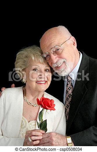 senior, miłość, para - csp0508034